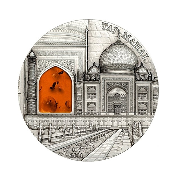 High quality metal Taj Mahal design silver coin for sale
