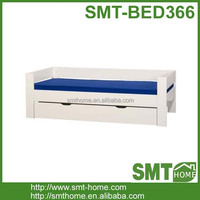 Economical hot sale white home bed wood frame design