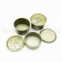 empty food tin can with easy open lid
