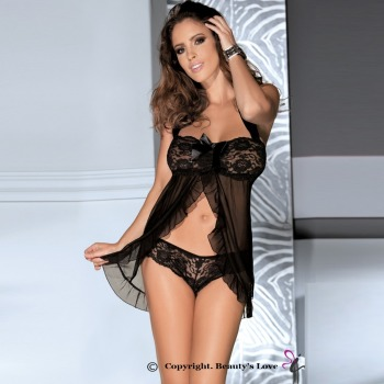 Beautys love sexy hot woman lace bowknot nightwear make love woman