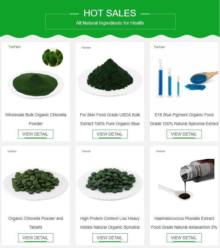 Tabletas de espirulina orgánica de 250mg y 500mg naturales a granel, precio al por mayor, 1KG