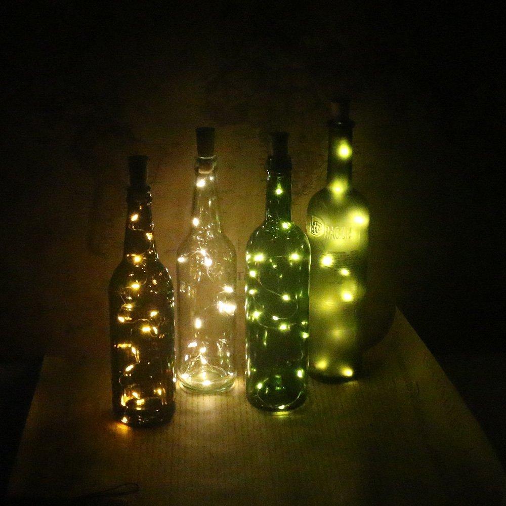 Trasfit 6 Pack Wine Bottle Cork Lights