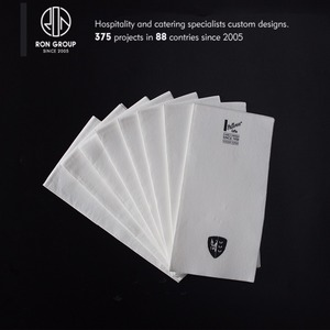 Foshan custom restaurant 100% raw materials airlaid paper hand napkin