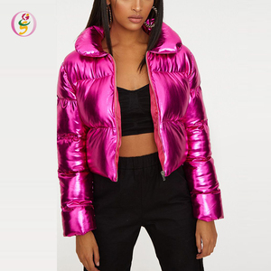 hot pink long sleeve 2018 short coats women jacket