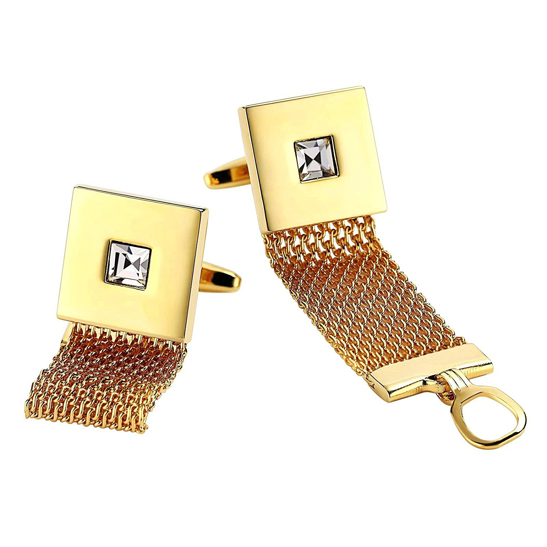 Aooaz 5 Styles Mens Stainless Steel Cufflinks 2Pcs, Novelty Cufflinks, Dad Unique Jewelry Box Fancy Charm