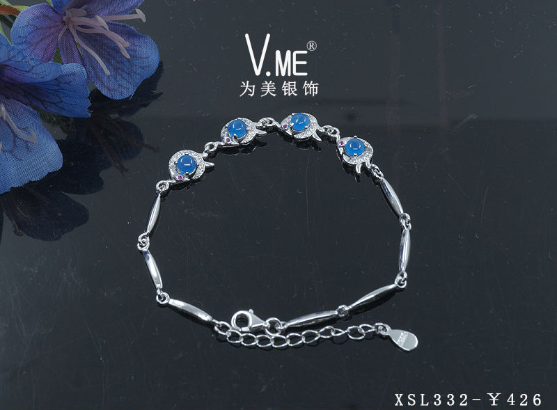 [XSL-332A] Cute zirconia bracelet with cz stones