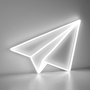 paper plane neon sign LED
