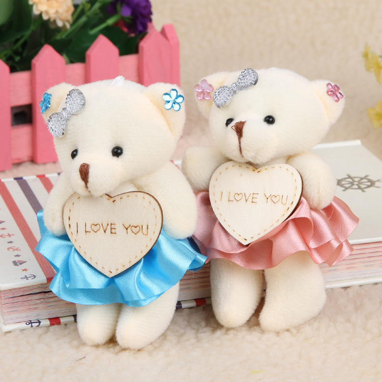 Wholesale high quality large stock small stuffed soft plush teddy bear bouquet
