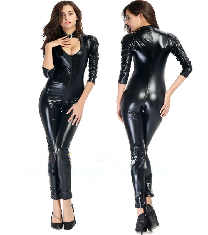 b43ba1d17b7 Get Quotations · XL XXL Plus Size 2015 women Sexy Latex Faux Leather Open  Crotch Zipper Women erotic lingerie
