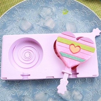 love+spiral Ice Cream DIY Maker Silicone Popsicle Molds