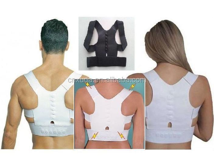 Correcteur de posture magnétique ceintures de soutien Réglable En Néoprène  pour le dos et les épaules 7d60104d2c5