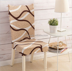 Plain dyed polyester universal chair cover white wedding chair cover