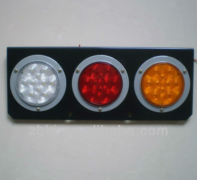 "4"" Amber red clear led combination tail lamp for truck"