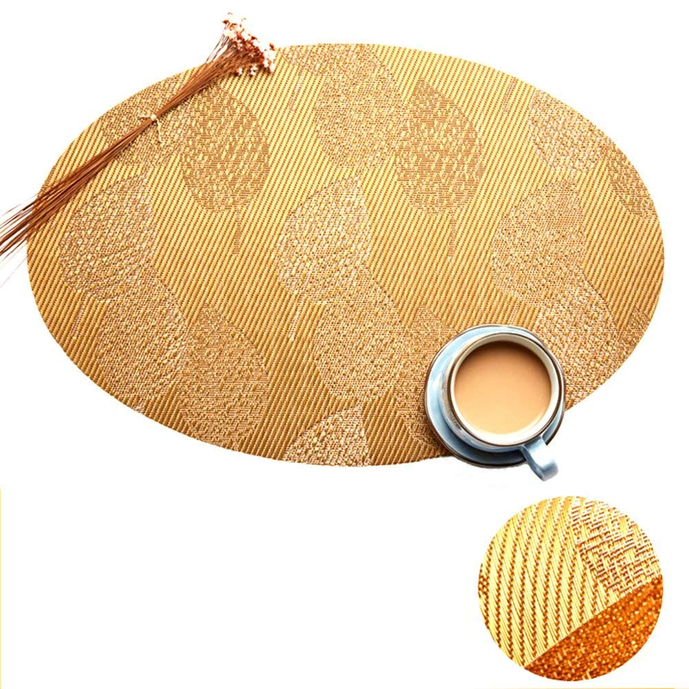 Get Quotations Oval Shape Heat Insulation Placemats Stain Resistant Washable Woven Table Mats