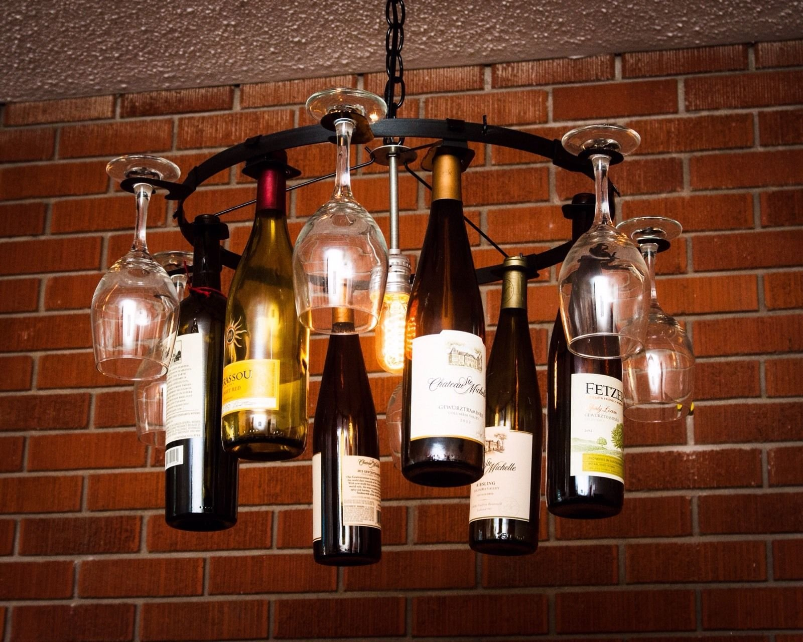 Consider, Beer bottle chandelier only reserve