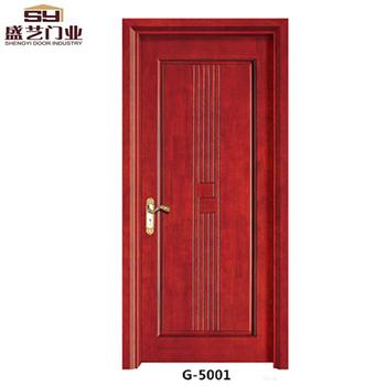 Flat Carving Design HDF Solid Wood Door Interior Door China Suppliers