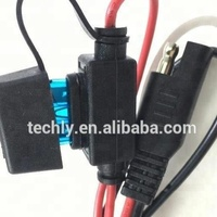 Red Black color wire 15A Fuse Terminal for Lighting System Power cable