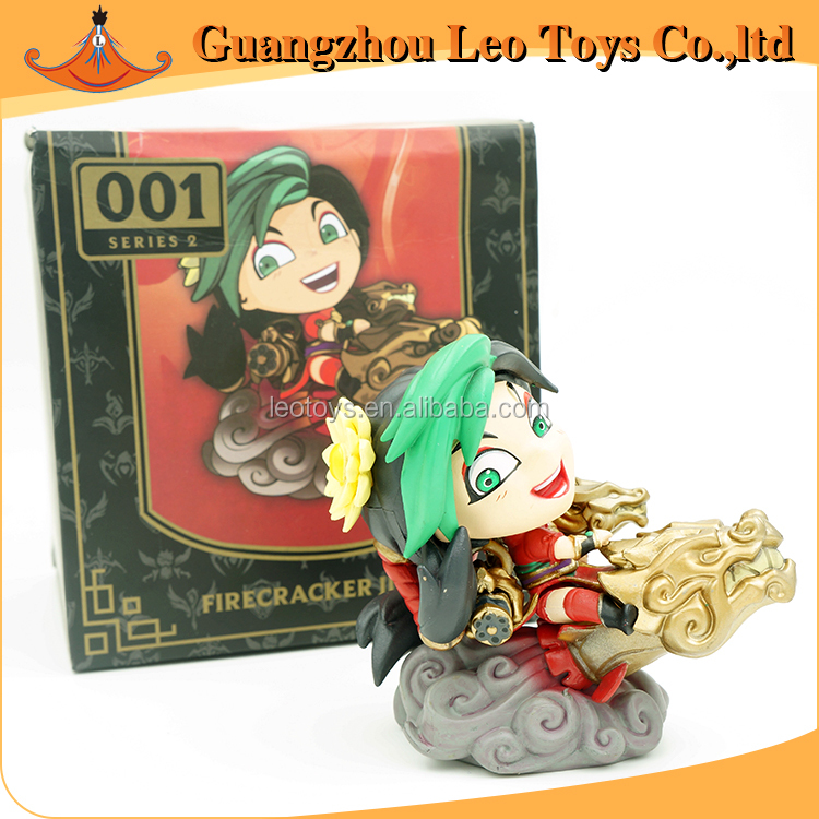 Hot Online Game LOL League of Legends Jinx On Dragon PVC Plastic Anime Action Figure Toy