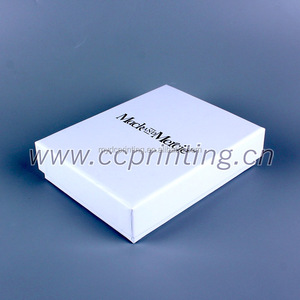 Sliver foil logo Jewelry box White box packaging with Foam