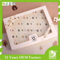 paper gift cardboard box with clear pvc window