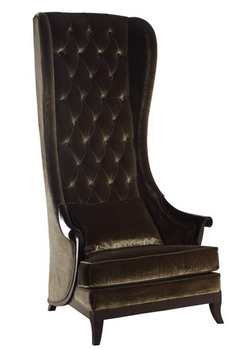 Grey Upholsteryed Queen Antique King Throne Chair Tc1011