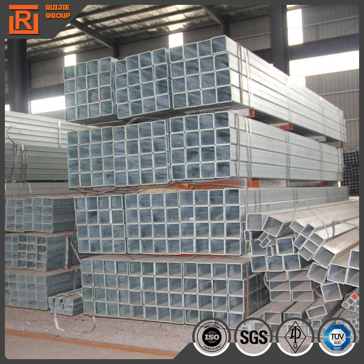 Astm a53 grade b erw steel pipe anti-rust pre galvanized rhs and shs steel tubing for fence barrier price