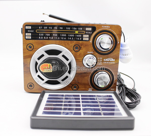 Multi-Function hand crank am fm portable radio with Solar powered dynamo rechargeable radio with flashlight