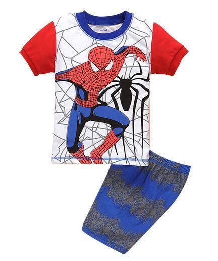Children boys girls kids Pajamas Sleepwear Clothing Sets Cartoon suits 2 piece set summer short