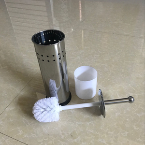 Manufacturer Directly Supply Stainless Steel Standing Toilet Brush Holder with Inner Cup