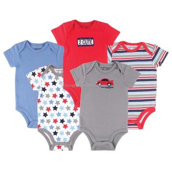 df35db6a04a1 2016 Branded Newborn Car Themed Baby Clothing 5 Pack Baby Bodysuits,Baby  Boy Bodysuit Summer