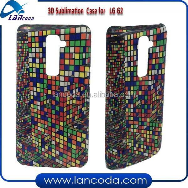 China made sublimation cover case for LG G2 mobile phone,with 3d vacuum machine printing tool