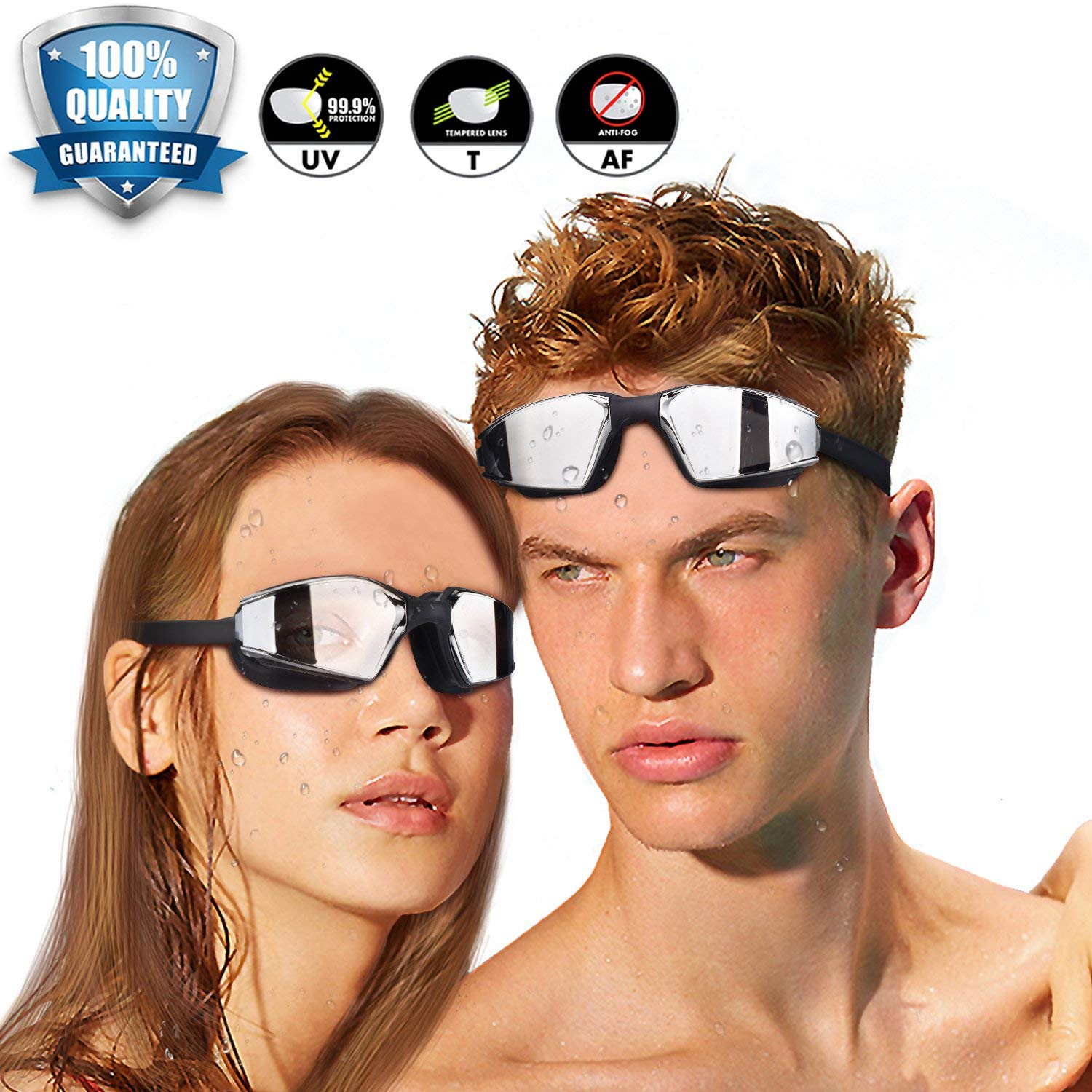 EUARCH Swim Goggles, Junior Googles for Swimming Adult Anti Fog Men Swim Goggles Racing Swimming Goggles for Men UV Water Goggles Competitive Pool Goggles Adult for Women,Men,Youth