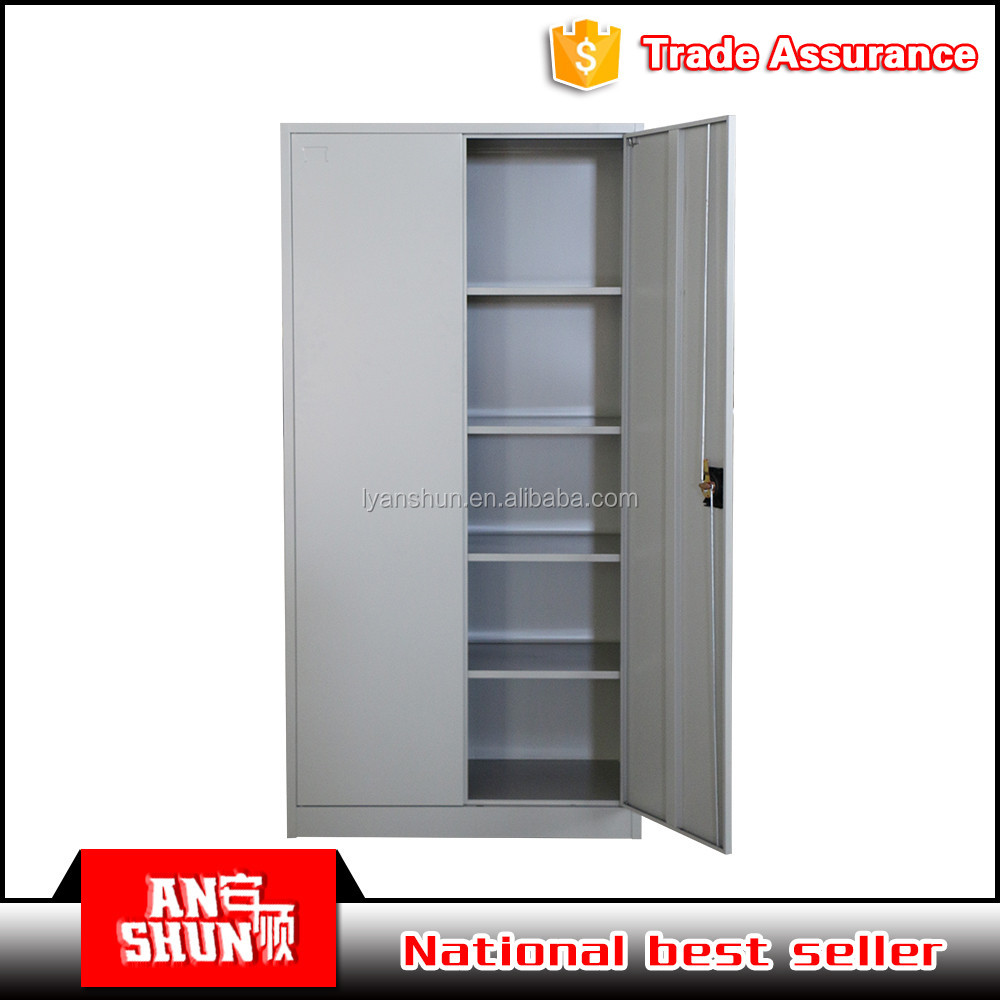 Luoyang manfacture office furniture cheap storage steel cupboard with 2 door