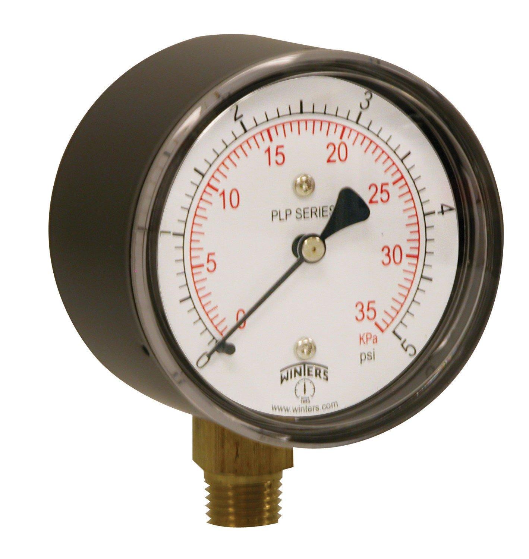 2-1//2 Dial Display 3-2-3/% Accuracy 1//4 NPT Bottom Mount Winters PAM Series Steel Ammonia Pressure Gauge 30 Hg Vacuum-0-150 psi//f
