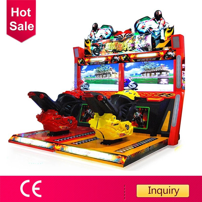 CE certificated thunder motor arcade game machine motorcycle