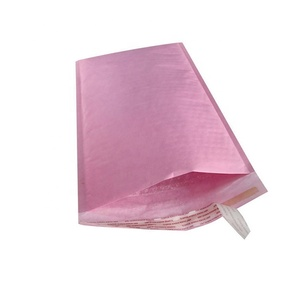 Manufacturer Wholesale Air Cushioned Pink Color Custom Printed Kraft Bubble Mailer With Adhesive Tape