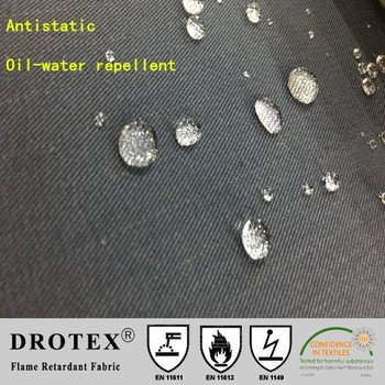 80%Cotton 19%polyester 1%antistatic 1*1 cm Belltron carbon fiber 4/1 sateen 255gsm anti-acid fabric