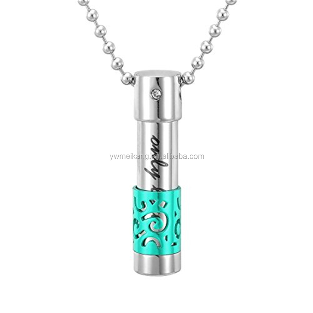 Meikang Urn Necklace for Bullet Memorial Ash Pendant Necklace Cremation