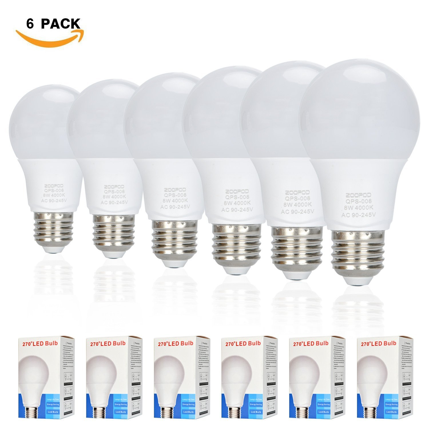 Canya A60 Led Bulb 60 Watt Equivalent 6w E26 Based Led Filament Vintage Dimmable Bulb With