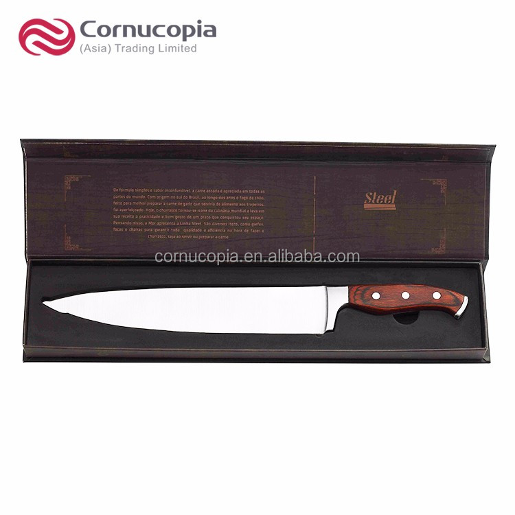 Gift Box Package Wood Handle Stainless Steel 10 Inch Kitchen Chef Knife