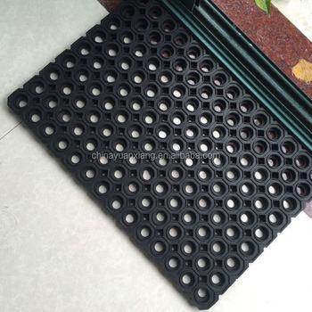 Heavy Duty Hexagon Holes Outdoor Rubber Mats
