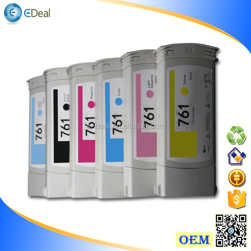 775ml/400ml printer ink cartridge for HP 761 763 remanufactured ink cartridge with quality pigment ink