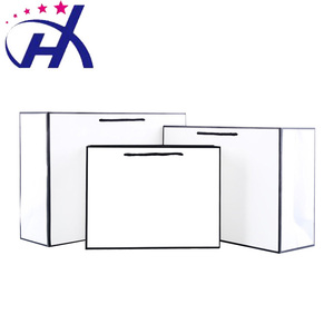 High quality colorful ivory paper / white cardboard shipping custom paper bag