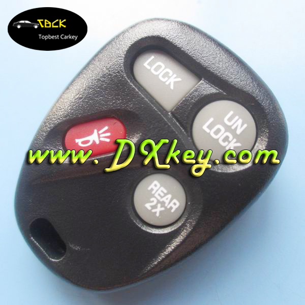 car master key 3+1 buttons auto key with 315MHZ chip smart remote for GM ignition key cover