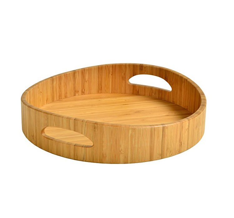 Decorative Heart Shaped Kitchen Wood Eco Food Tray Serving For Breakfast 7