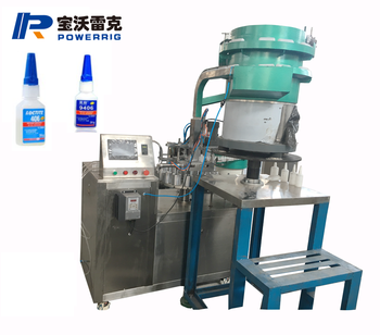 High satable  fast dry glue filling capping machine 502 glue filling capping machine