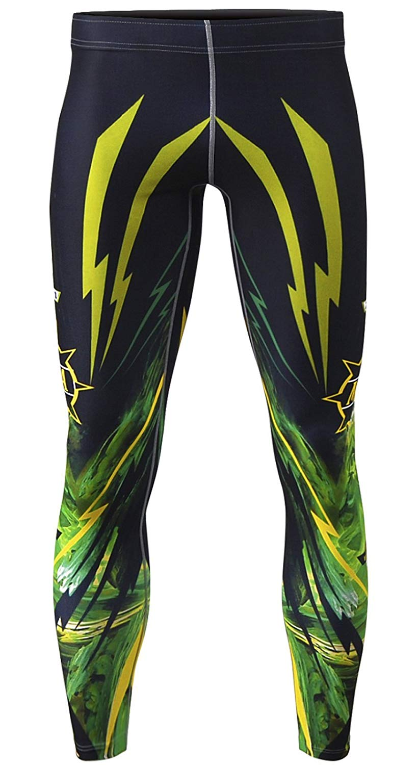 bce8a6632c Get Quotations · zipravs Mens Athletic Compression Base Layers Running  Exercise Fitness MMA Pants Tights