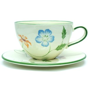 Green Flowers Hand Paint Bulk Coffee Cup