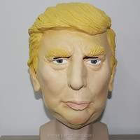 X-MERRY Novelty donald trump type funny halloween latex mask with wig