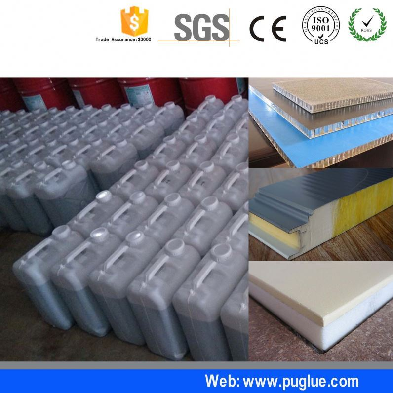 high strength wall insulated glue adhesive for metal face polyurethane pu foam sandwich panel fiber cement xps sip